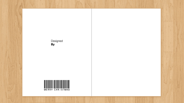 blank christmas card template