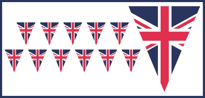 uk flag bunting