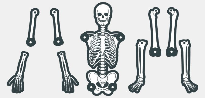 Create Your Own Skeleton Paperzip