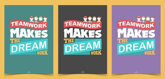 classroom poster free teamwork