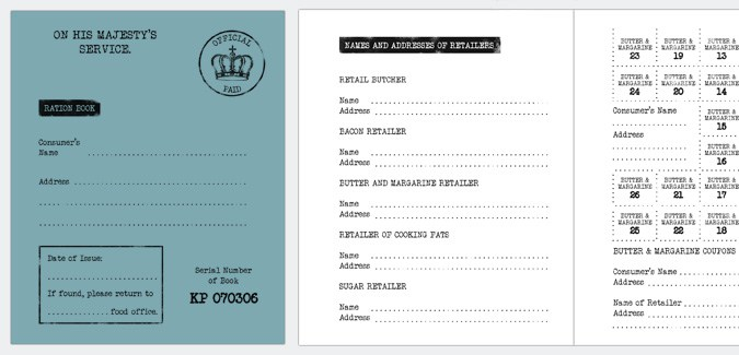 ww2 ration book template print free