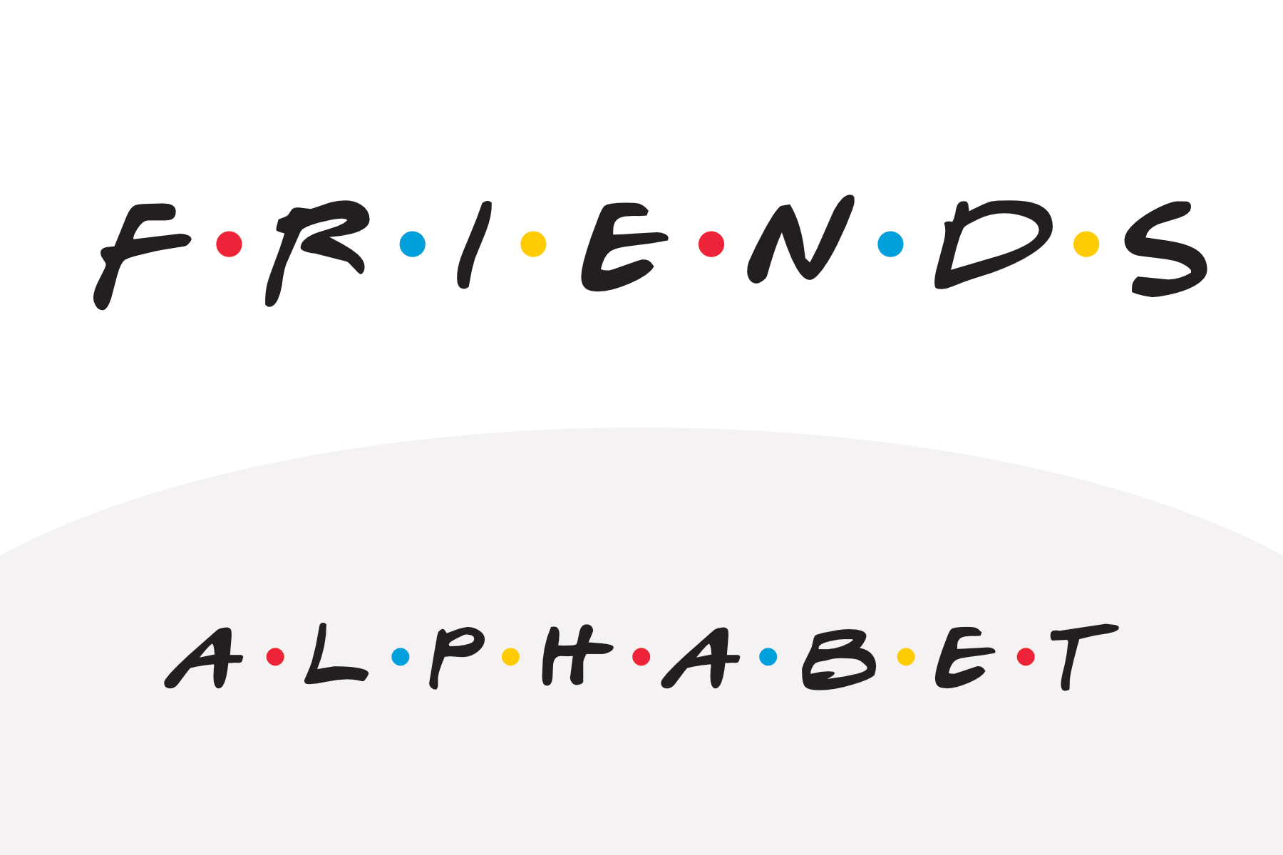 printable alphabet of the friends tv show font