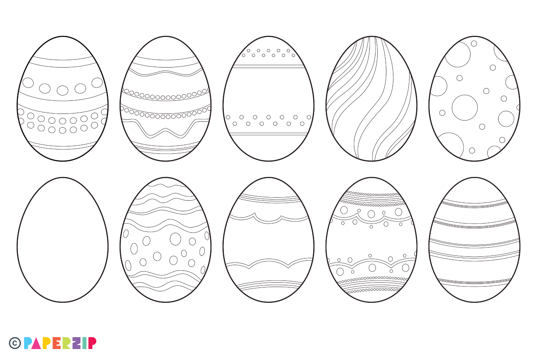 blank easter egg templates free printable colouring