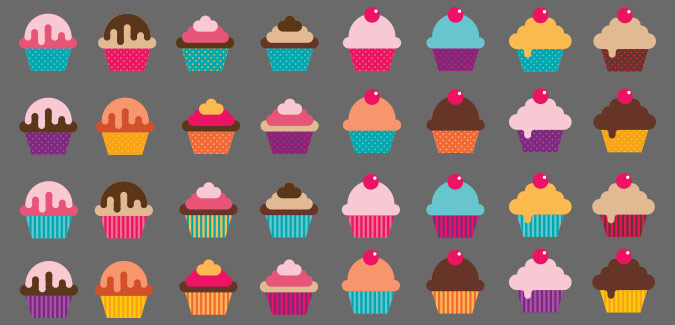 cupcake icons for classroom display