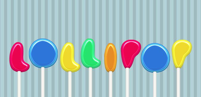 colourful lollipop alphabet free printable