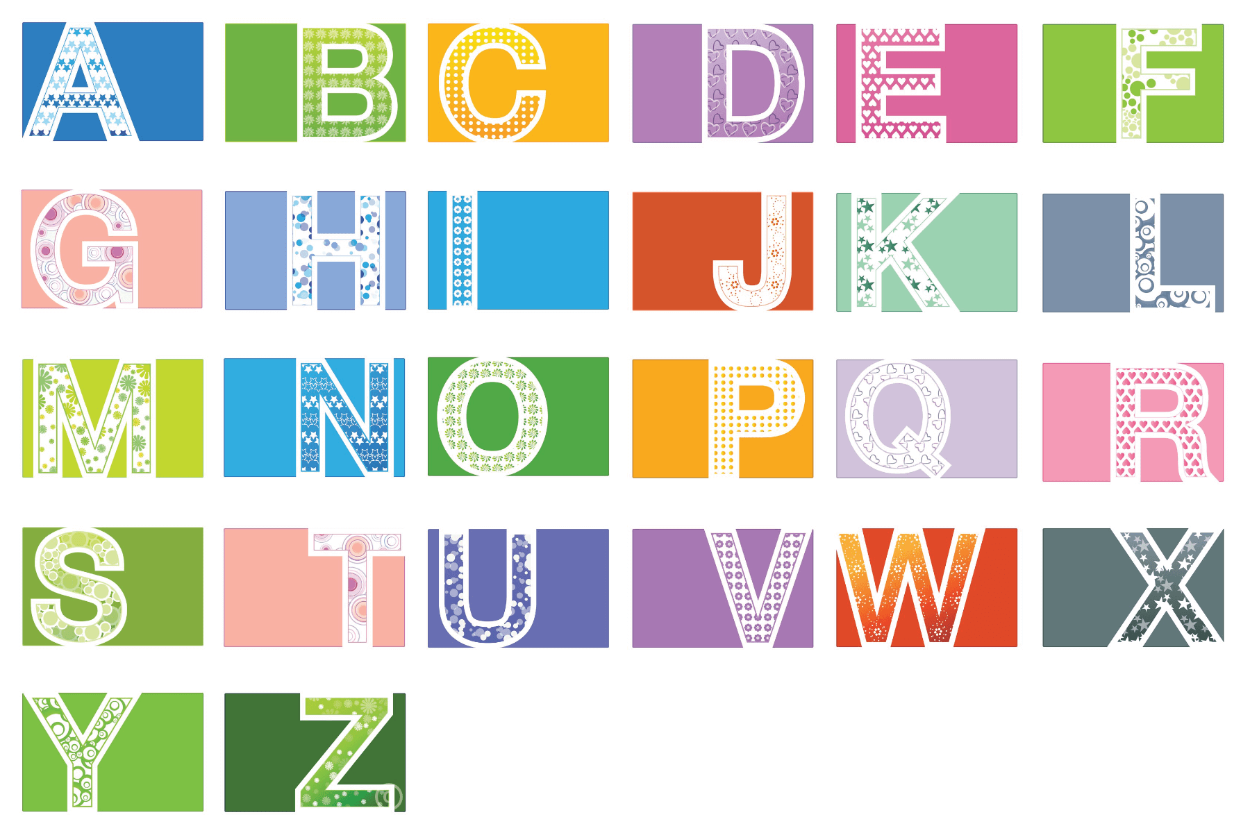colourful alphabet free printable