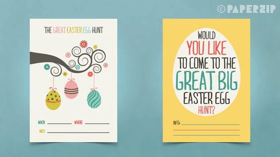 easter party posters egg hunt free printable