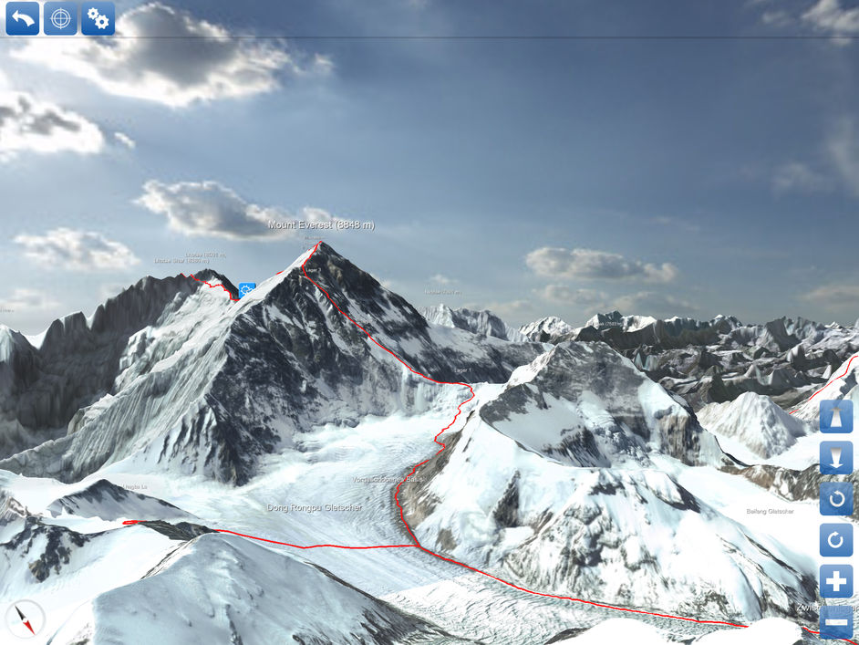 3d tour of mount everest app