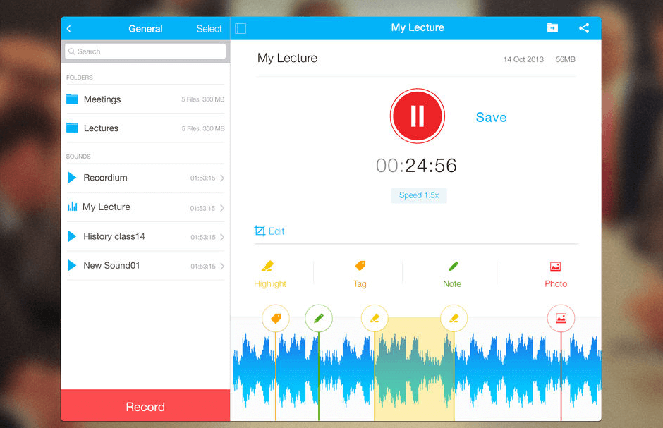 recordium pro ipad audio recording app