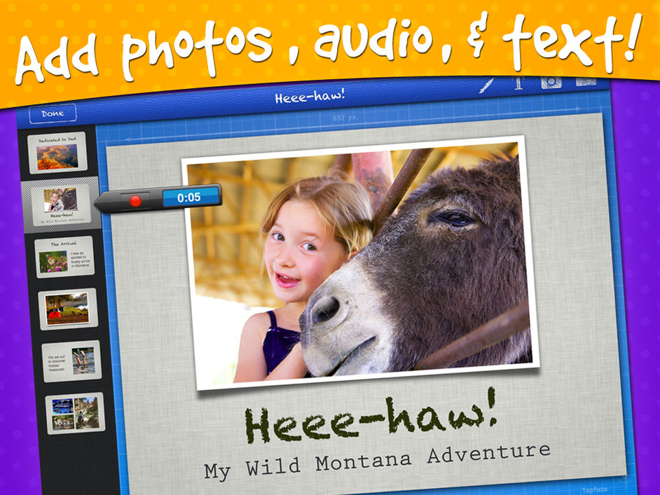 storybuddy 2 kids app for creating presentations