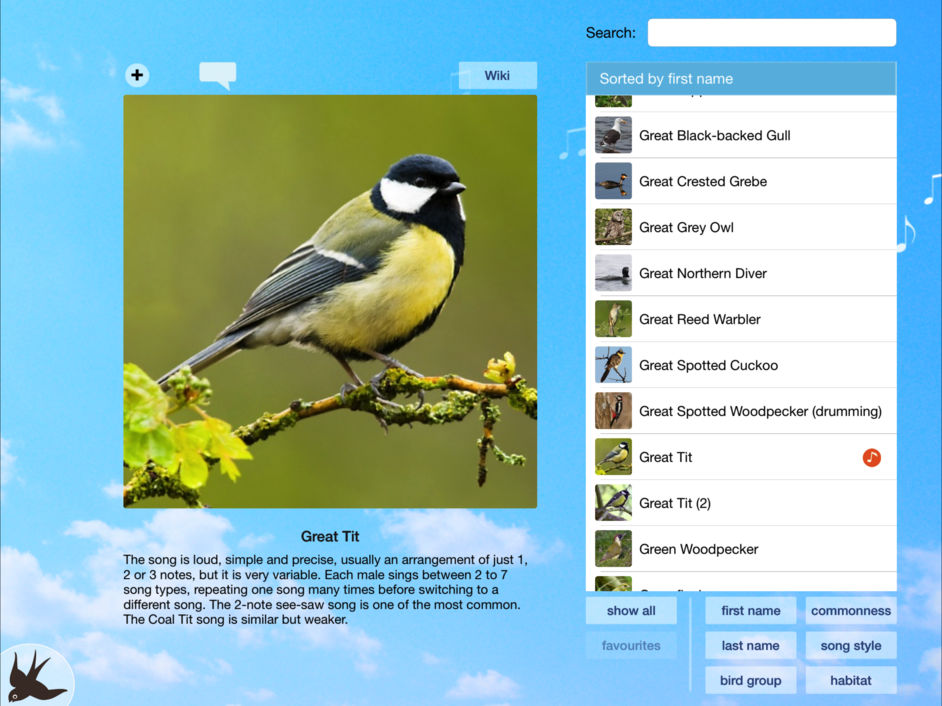 chirp bird song app ipad