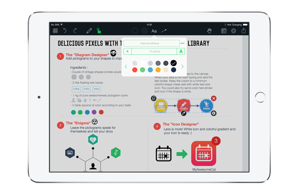 grafio 3 whiteboard app for ipad