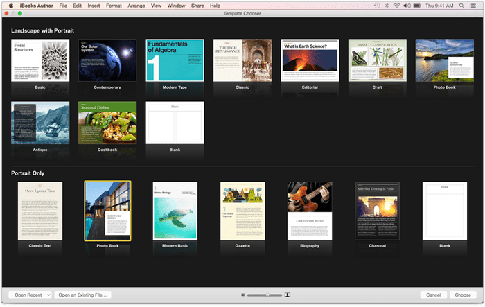 ibooks author gallery