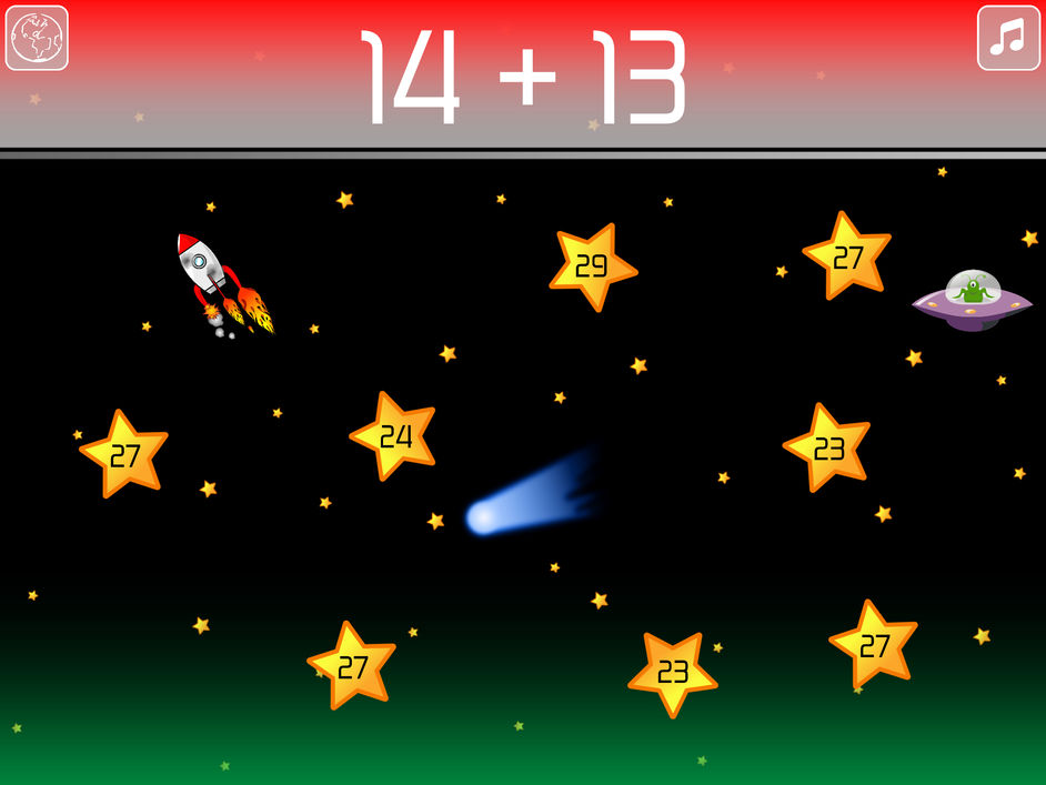 math blast mental arithmetic game collect stars