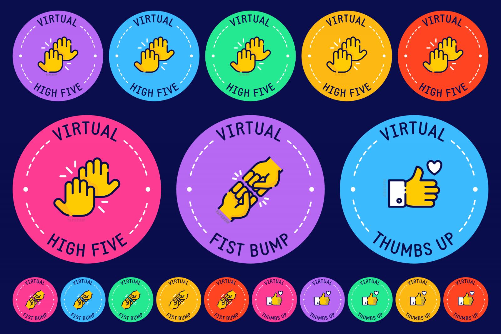 virtual high 5 thumbs up fist bump