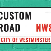 customisable london street sign personalised