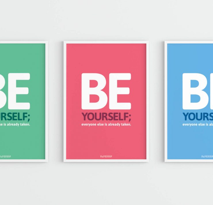 free motivational poster be yourself