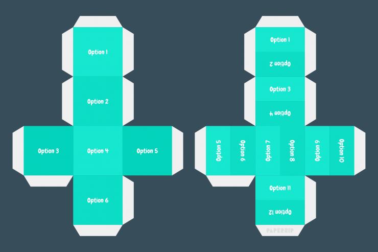 simple cube templates editable